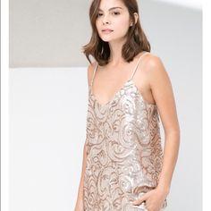 Selling this Mango Suit Separates Blush Sequin Tank Top on Poshmark! My username is: kishakaryn. #shopmycloset #poshmark #fashion #shopping #style #forsale #Mango #Tops