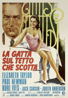Cat on a Hot Tinroof Italian Poster