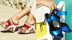 La collezione di scarpe CafèNoir primavera-estate 2017 comprende sandali alti e bassi, sneaker, zeppe e ciabattine dallo stile vivace e vibrante.
