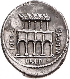 Denario - argento - Roma repubblicana (55 a.C.) - T DIDI VIL PVB IMP villa pubblica di fronte - Münzkabinett Berlin