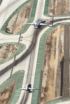 Airplanes in line. #transport