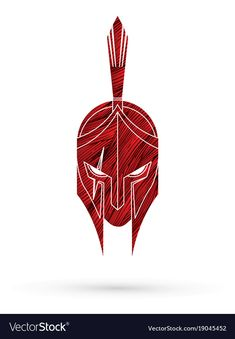Roman or greek helmet spartan helmet vector image on VectorStock Arm Tattoo, Sleeve Tattoos, Spartan Helmet Tattoo, Bugs Bunny Drawing, Helmet Drawing, Spartan Logo, Greek Helmet, Spartan Warrior, Helmet Design