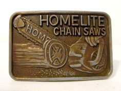 Homelite Chainsaw Belt Buckle Chain Saws by honeyblossomstudio