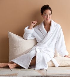 Womens Robes | Organic Cotton Bath Robe - Gaiam