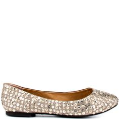 You'll feel like an angel in the Heaven by ZiGi.  This enchanting style features a pewter fabric upper with sewn sequin details through out the silhouette.  This stylish flat will add to any play or work ensemble.