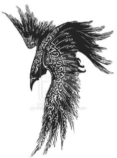 Resultado de imagem para norse raven tattoo