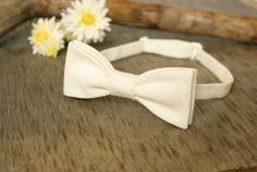 Bow Tie Ivory Texture  Classic Bow Tie  Wedding Bow Tie by TheBestBoysTies on Etsy