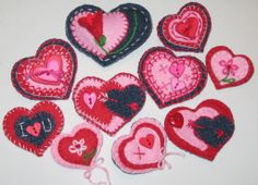 Valentine DIY Denim and Felt Heart Pins