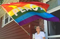 This Town Hung Over 40 Pride Flags To Support A Lesbian Couple Whose Home Was Vandalized