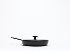 This frying pan with a lid is hand cast from iron in the Picardie region of France by Crane cookwear. Perfect for recipes where you require a hob Cast Iron Frying Pan, Sand Casting, Black Enamel, Recipe Cards, Crane, Cookware, Fries, Household, Baking
