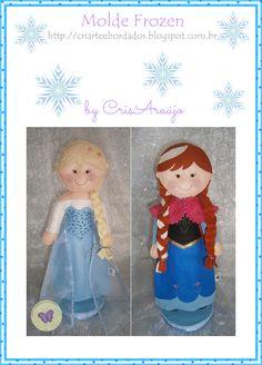 CriArte & Bordados - Molde Completo Anna e Elsa - Frozen   http://criarteebordados.blogspot.com.br/