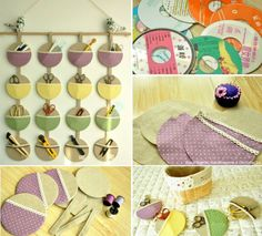 Take old CDs and turn them into an organizer for your office or craft room.