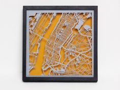 Map Décor, Laser Cut Maps from Collected Edition Maps