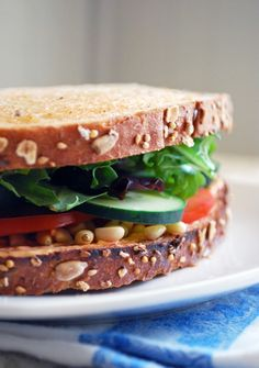 Goat Cheese and Veggie Sandwich // The Live-In Kitchen