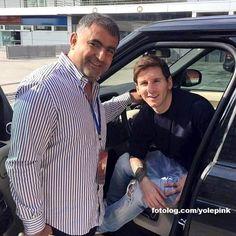 Lionel Messi : Leo e Samir, um Libanês, será parente de Daniguete? rs  Bjs   yolepink