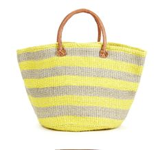 Sole Society Keeva Large Tote-Perfect for the Beach! Large Tote, Large Bags, Jaune Orange, Straw Tote, Mellow Yellow, Color Yellow, Beach Tote Bags, Beautiful Bags, My Bags