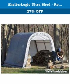 ShelterLogic Ultra Shed - Round Style, 12Ft.L x 8Ft.W x 8Ft.H, Model# 76813. The ShelterLogic Ultra Shed heavy-duty snow load rated shelter provides the right mix of capacity and durability at a great price. Features sturdy steel frame, commercial-grade polyethylene cover, zipped front door, solid back panel and ratchet tie downs. Round style sheds offer enhanced snow load and wind load capacities. Frame Material: Steel w/powder-coat.