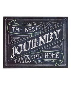 Another great find on #zulily! 'The Best Journey' Wall Sign #zulilyfinds