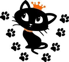 Velourmotiv kitty cat XXL von springdesign auf DaWanda.com