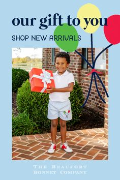 His favorite shorts just got even sweeter! Featuring Buckhead Blue Gingham and a Balloon Applique, these Shelton Shorts will have your little gent ready for all of the celebrations. Beaufort Bonnet Company, Blue Gingham, Celebrations, Balloons, Applique, Happy Birthday, Shorts, Baby, Collection