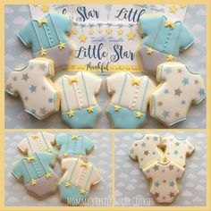 Baby baby shower it's a boy boy baby boy boy shower boy baby shower onesies baby shower onesies when the cookies stars twinkle twinkle little star star cookies onesie cookies star themed shower cookie favors party favors cookies for a baby shower cookies for boys shower cookies bowties and suspenders blue gray yellow