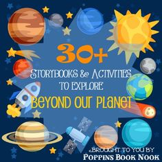 Come explore space with kids in these 30+ storybook and activities!