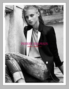 Anna Selezneva for Pierre Balmain Spring Summer 2013
