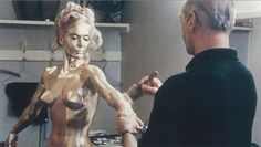 """Step One: Actress Shirley Eatonis cast asa gold-painted corpse in Goldfinger.  Step Two:Miss Eaton is assured that death from """"skin suffocation"""", (although probably not entirely certain about it in 1964), is not a likely outcome.  Step Three:Just in case, a doctor is hired to be on set at al"""
