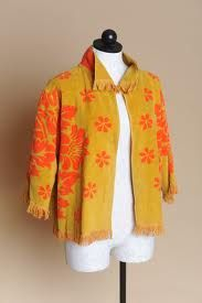 Retro vintage Towel Jacket Mustard and by LoveOfAllVintage a22f14d5e