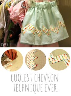 Coolest Chevron Sewing Technique // By Designs By Sessa for The Sewing Rabbit // mesewcrazy.com