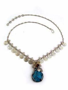 """Wire Wrap Necklace """"Liliana"""""""