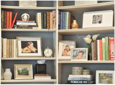 Have a lot of books?  Great styling tips to blend them with your decor!