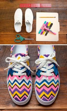 25 Genius Craft Ideas- used to do this to my shoes waaaaay back in middle school (the late 80s)