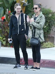 Girl please: The sporty pair were in deep conversation following their lunch, with 30-year...