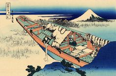 """Ushibori in Hitachi Province"", - Thirty-six Views of Mount Fuji - No.36, by Hokusai (1760–1849)"