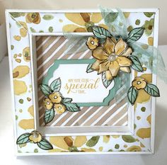Julie Kettlewell - Stampin Up UK Independent Demonstrator - Order products Box Frame Card for my Retreat Fun Fold Cards, Folded Cards, 3d Paper Projects, Paper Crafts, Shadow Box Frames, Shadow Book, Making Greeting Cards, Making Cards, Thank U Cards