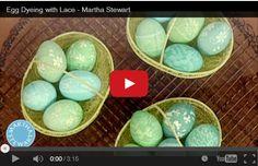 Uova decorate con il pizzo