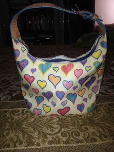 Dooney & Bourke White Heart Hobo Bag