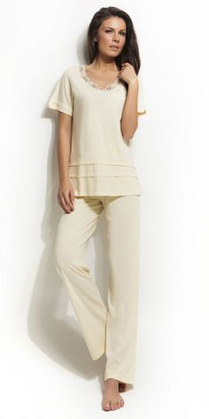 Ladies Pyjama 100% Cotton | Pyjamas| Vamp! Ladies Pyjama 100% Cotton Cotton Pyjamas, Pajamas Women, Ss 15, Peplum, Lady, Natural, Collection, Tops, Fashion