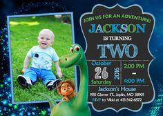 The Good Dinosaur Invitation Birthday  The Good by OurLittleFunny