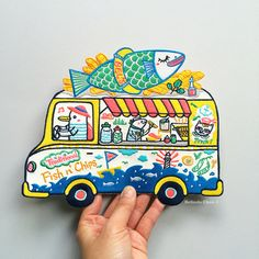 Fish n' Chips Truck XXL Back Patch by BelsArt on Etsy