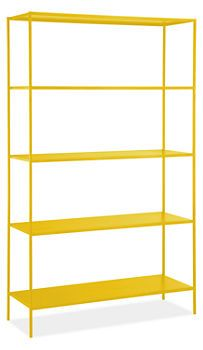 Slim Shelves in Yellow