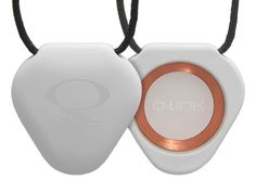 http://www.qlinkproducts.com/Scripts/prodView.asp?idProduct=155&idAff=14000 White SRT-3 Q-Link Pendant -  It can be worn by both men and women as a signature piece, dressed up or down. Designed by internationally acclaimed designer Neville Brody and powered by our next-generation SRT-3.