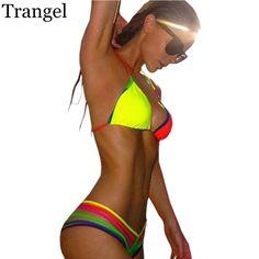 Ring triangle black bikini