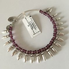Alex & Ani Bracelet/Plum. Price Firm. Alex and Ani Spike of Confidence bracelet. Color-plum. Silver tone. No box. Available-3. Alex & Ani Jewelry Bracelets