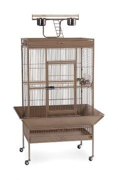Prevue Pet Products Wrought Iron Select Bird Cage 3153COCO, Coco Brown, 30-Inch by 22-Inch by 63-Inch