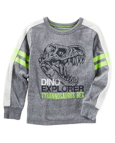 Kid Boy Glow-in-the-dark Dino Tee from OshKosh B'gosh. Shop clothing & accessories from a trusted name in kids, toddlers, and baby clothes.