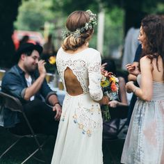 LOVE this embroidered wedding dress!!