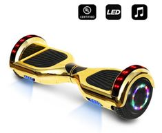 cho inch Hoverboard Electric Smart Self Balancing Scooter with Built-in Wireless Speaker LED Wheels and Side Lights Safety Certified