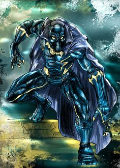 BLACK PANTHER IN COLOR by ~Stacabrau on deviantART